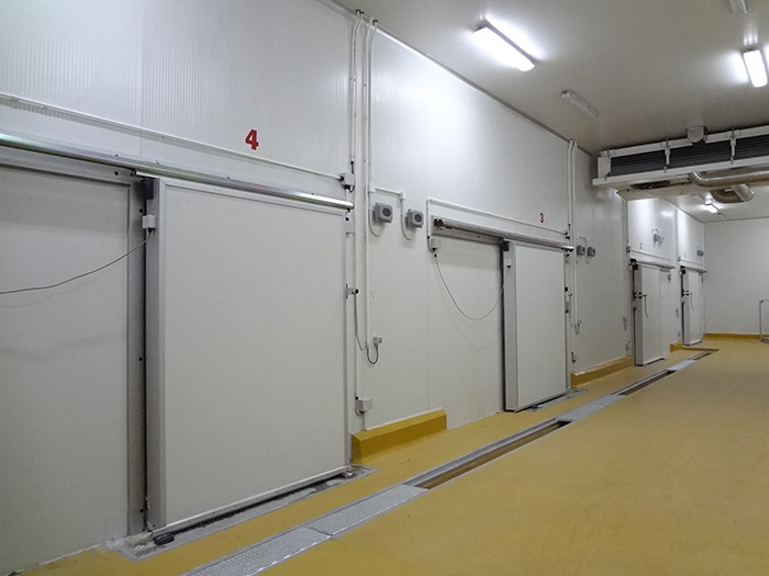 Cold room and food-processing facility